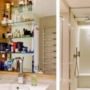 单身公寓洗手间玻璃隔断装修效果图
