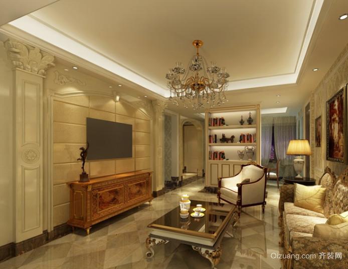 120平米豪华欧式客厅电视背景墙
