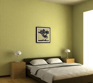 创意酒店卧室硅藻泥装修效果图