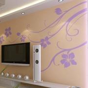 卧室硅藻泥装修背景墙图
