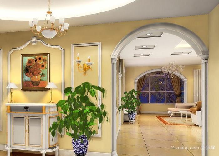 90平米简欧风格客厅垭口装修效果图