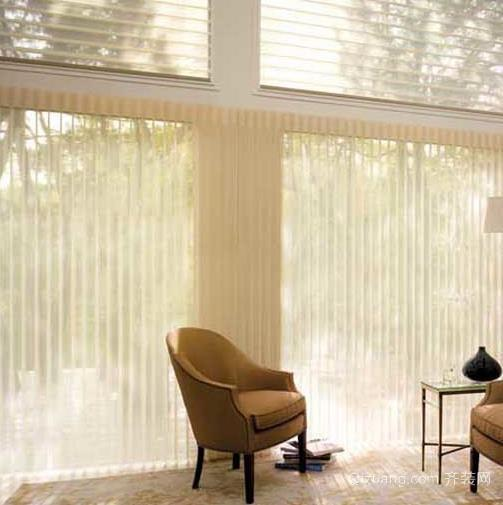 土豪别墅现代电动窗帘装修效果图片