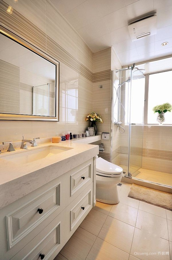 10平米小型现代简约卫生间装修设计效果图