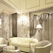 别墅窗帘装修背景墙图