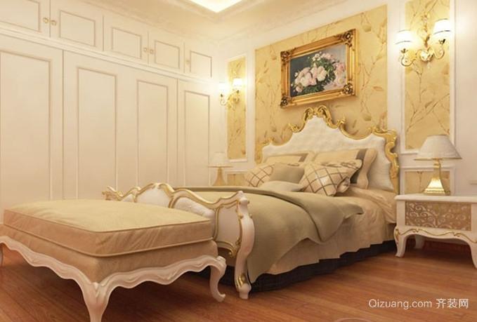 唯美典雅的欧式风格卧室背景墙装修效果图大全