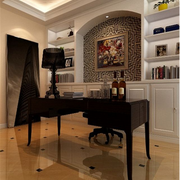 美式风格书房装修书桌图