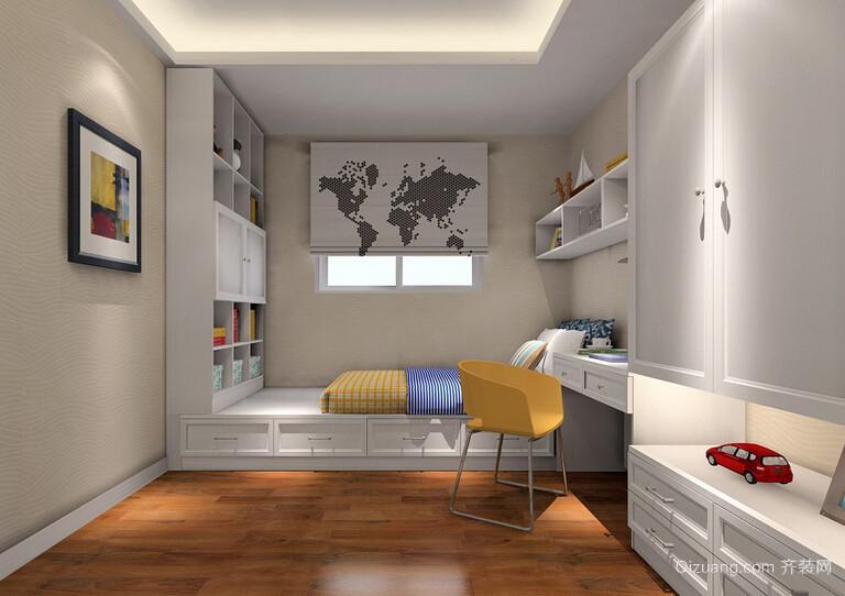 50平米小房间榻榻米床装修效果图