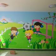 幼儿园壁画室内图