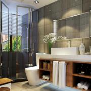 浴室屏风隔断装修窗帘图