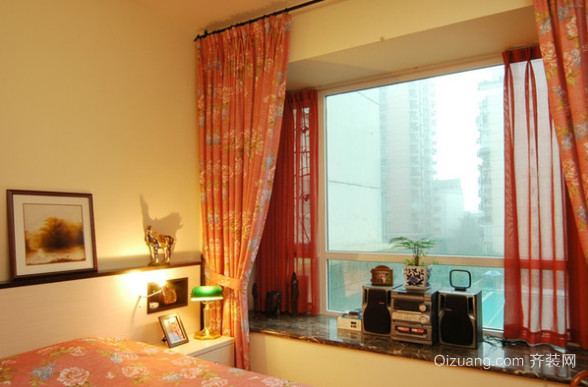 非常美观实用的中式飘窗窗帘设计效果图欣赏