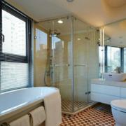 浴室屏风隔断装修整体图