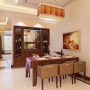 中式风格酒柜装修餐厅图