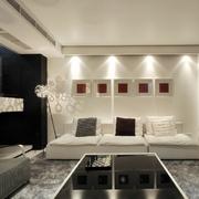 沙发背景墙装修灯光设计