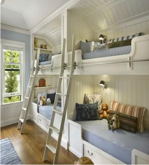 儿童卧室双层床装修效果图