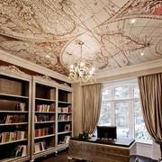 书房吊顶装修飘窗图