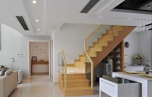 小复式楼实木楼梯装修效果图