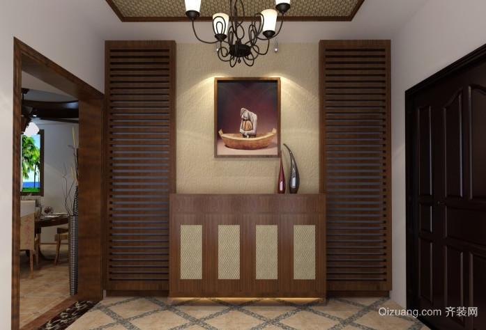 本色古朴的东南亚风格鞋柜设计装修效果图鉴赏