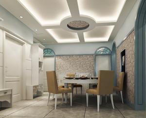 90平米欧式餐厅吊顶装修效果图