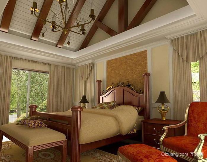 三室一厅美式古典卧室装修效果图