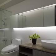 洗手间玻璃隔断背景墙图