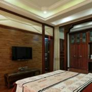中式卧室电视背景墙装修