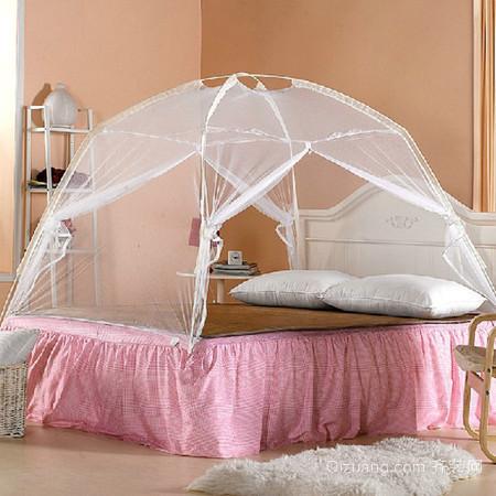 复式楼清新小帐篷蚊帐卧室设计效果图