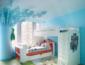 老北京四合院儿童房双层床装修效果图