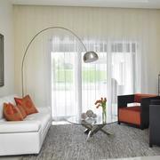 单身公寓窗帘装修客厅图