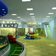 儿童游乐园装修效果图