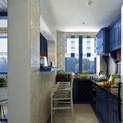 厨房橱柜设计装修隔断图