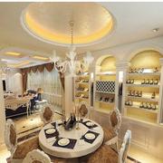 欧式风格酒柜装修灯光设计