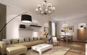 90平米后现代风格极简主义客厅装修效果图