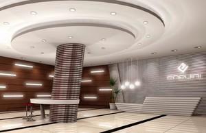 知名企业大厅形象墙装修设计效果图