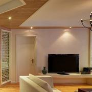 现代简约电视背景墙设计整体图