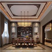 中式风格酒柜装修吊灯图