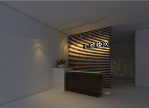 地中海风格公司背景墙装修效果图