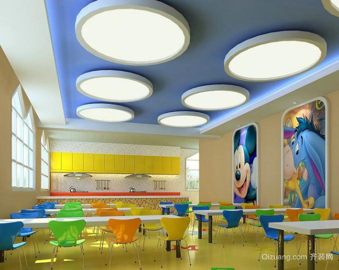 现代简约儿童餐厅装修效果图