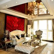 客厅吊顶装修沙发图