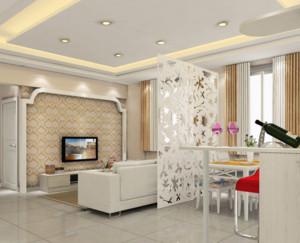 精致美丽的欧式客厅电视背景墙装修效果图欣赏