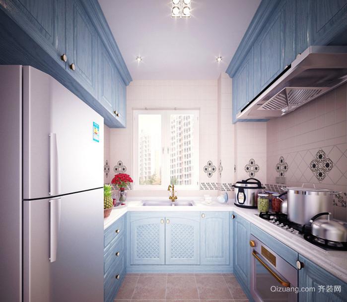 110平米大户型地中海厨房橱柜装修效果图大全