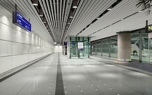 大型机场走廊都市简约金属板吊顶装修效果图