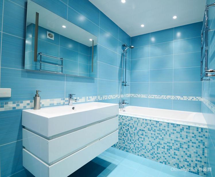 怡然自得的大户型精致现代浴室装修效果图