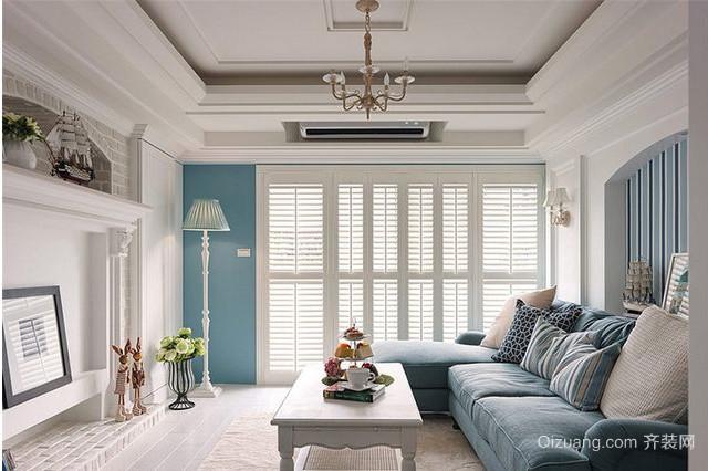 三室二厅地中海风格玄关隔断设计装修效果图