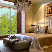 卧室背景墙装修玻璃窗