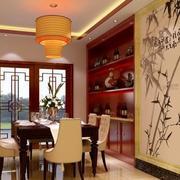 餐厅酒柜设计装修吊灯图