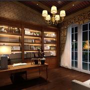 北欧风格书房装修灯光设计
