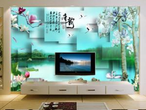 70平米现代简约风格客厅背景墙壁画装修效果图