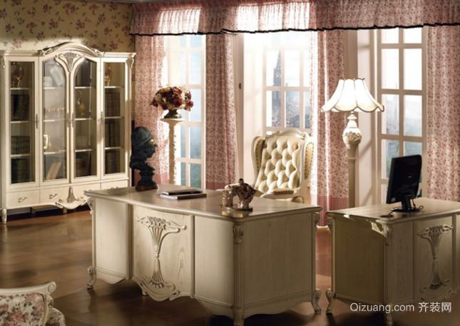 浪漫典雅的欧式风格书房设计装修效果图鉴赏