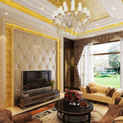 欧式客厅装修背景墙图