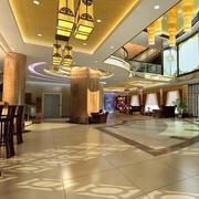 商务酒店大厅吊顶装修地板图